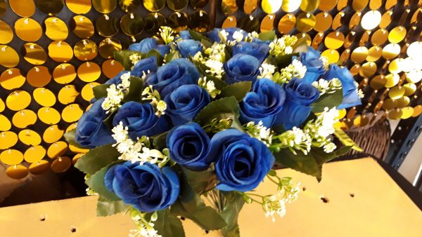 Bunch Royal Blue Artificial Flowers