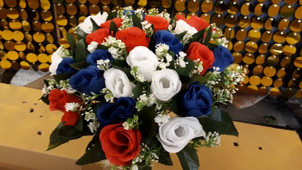 RED WHITE BLUE Artificial Flowers