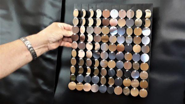 Black Plastic Panel with silver discs